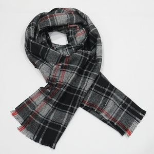 GAP Black, Gray and Red Plaid Winter Cozy Scarf